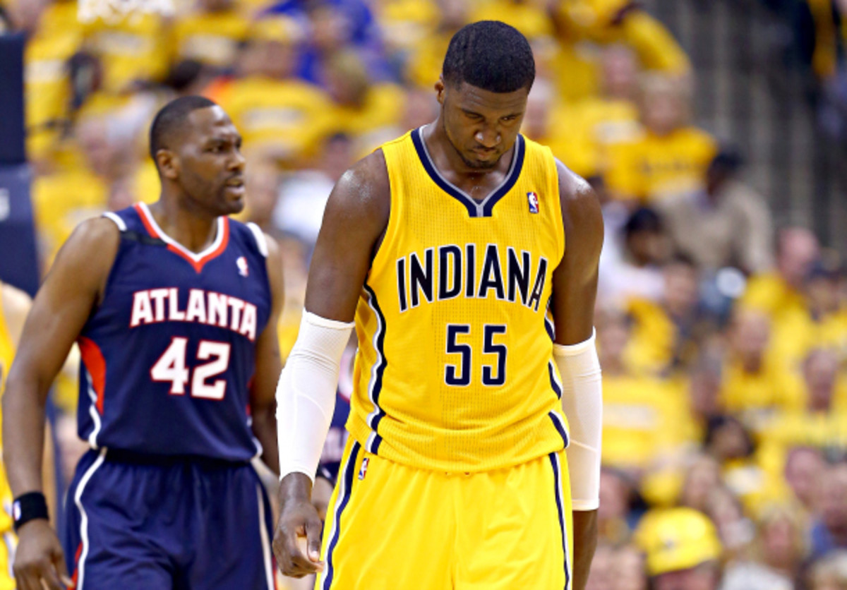 Roy Hibbert's Pacers are  desperate and increasingly dysfunctional. (Andy Lyons/Getty Images)