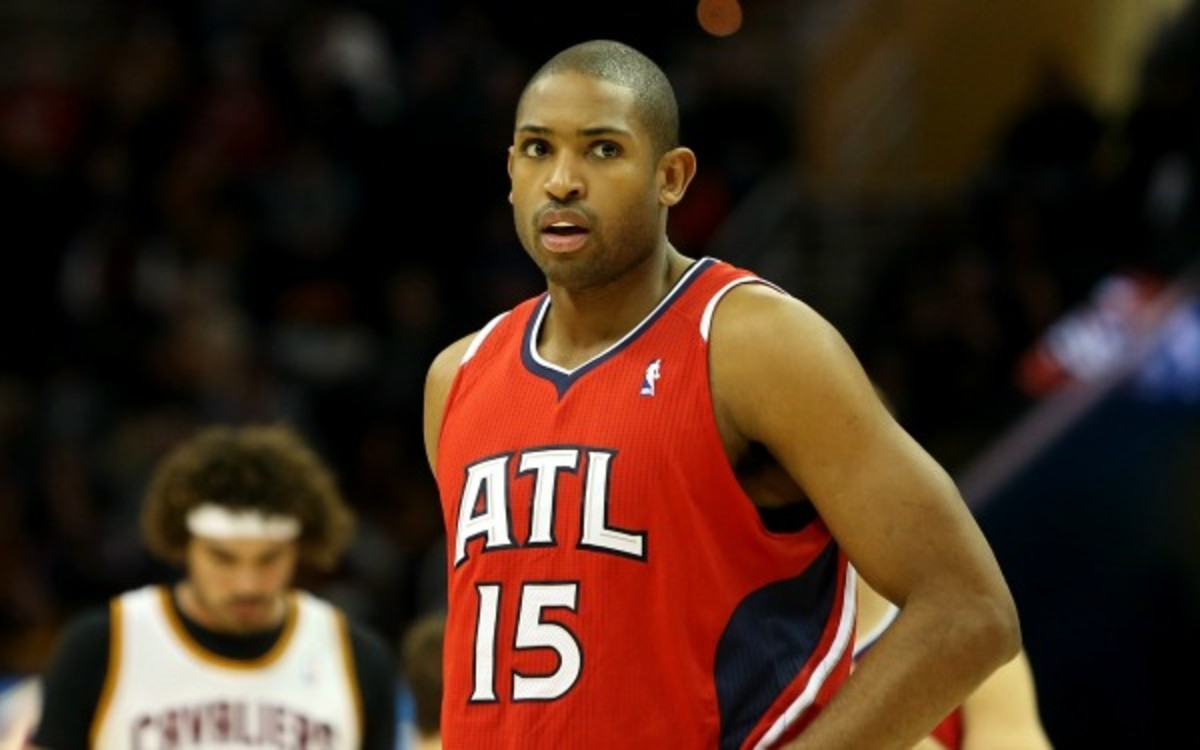 Horford has been out for the season since tearing his pectoral in late December. (Mike Lawrie/Getty Images)