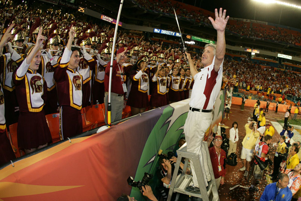 Skeptics thought Carroll's rah-rah style at USC—literally in some cases—couldn't play in the pros. (Bob Rosato/SI)