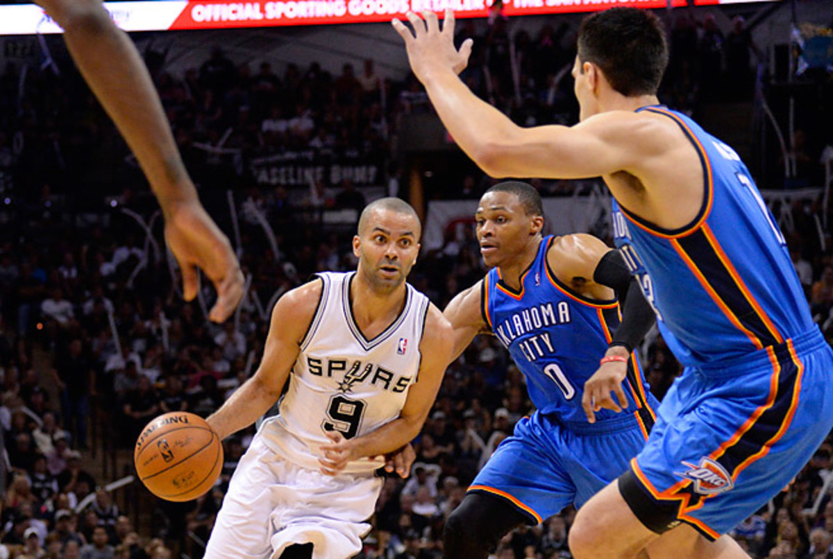 The Spurs went undefeated at home in May and won each game there by at least 17 points.