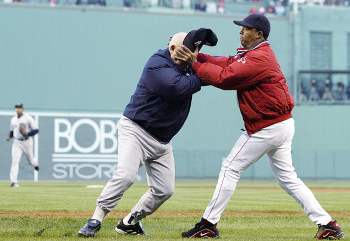 Pedro Martinez and Don Zimmer :: AP