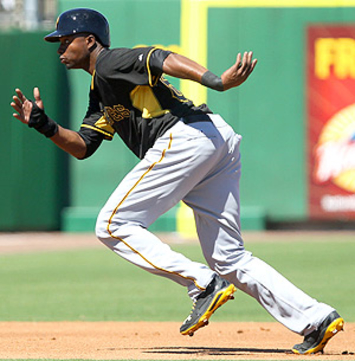 Gregory Polanco, pictured here in a Pirates' spring training game, is tearing it up in Triple-A Indianapolis.