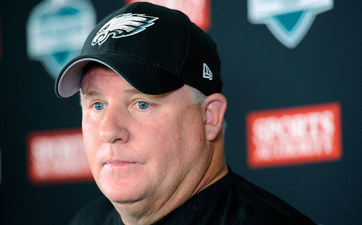 Chip Kelly is back for year two after leading the Eagles to a 10-6 record and NFC East division title in his first season as head coach. (Michael Perez/AP)