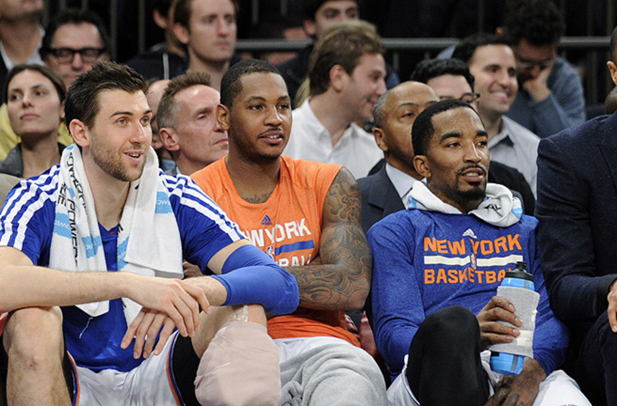 J.R. Smith (right) is used to coming off the bench, but Mike Woodson never called his name against the Heat.