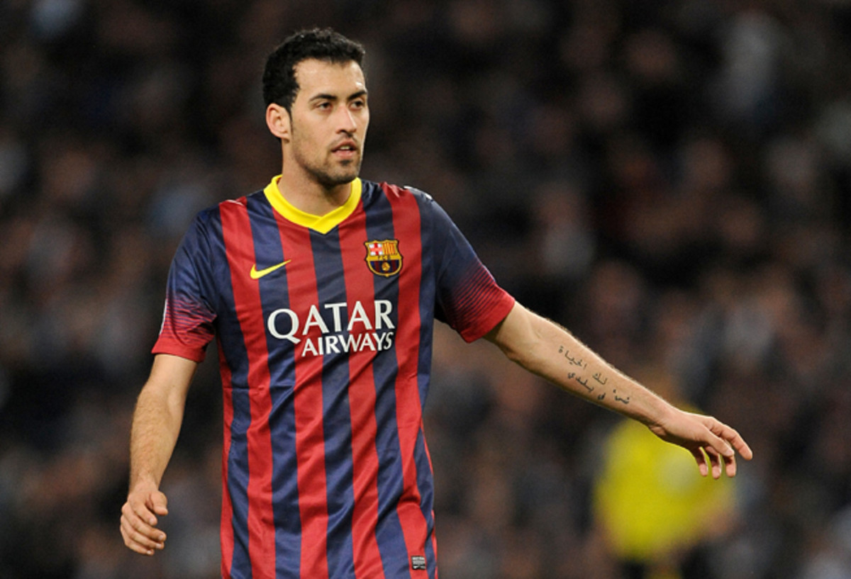 Barcelona's Sergio Busquets has some choice words for Manchester City, which criticized the referee after losing to the Spanish power in the Champions League on Tuesday.