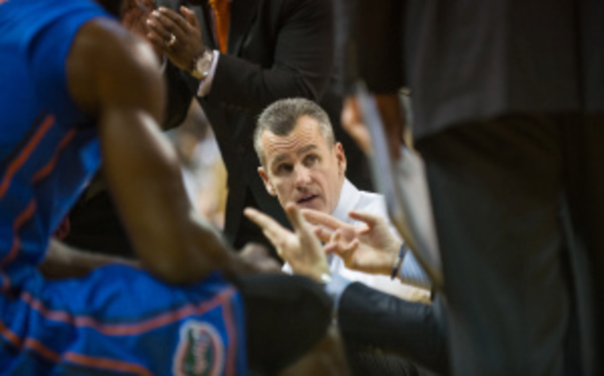 """Gators coach Billy Donovan will have 6'11"""" forward-center Chris Walker available for Tuesday's home game against Missouri. (Michael Chang/Getty Images)"""
