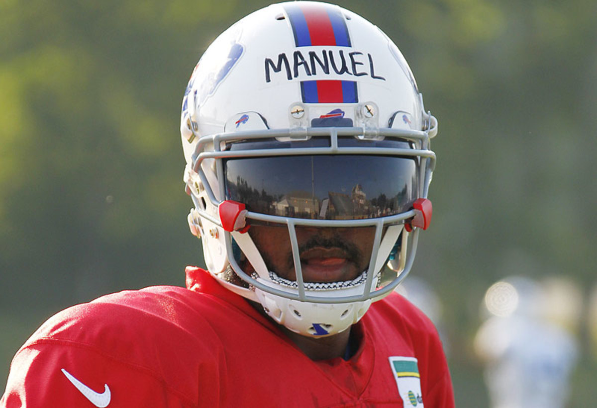 EJ Manuel started 10 games as a rookie, throwing 11 touchdowns and nine interception in accruing a 4-6 record. (Bill Wippert/AP)