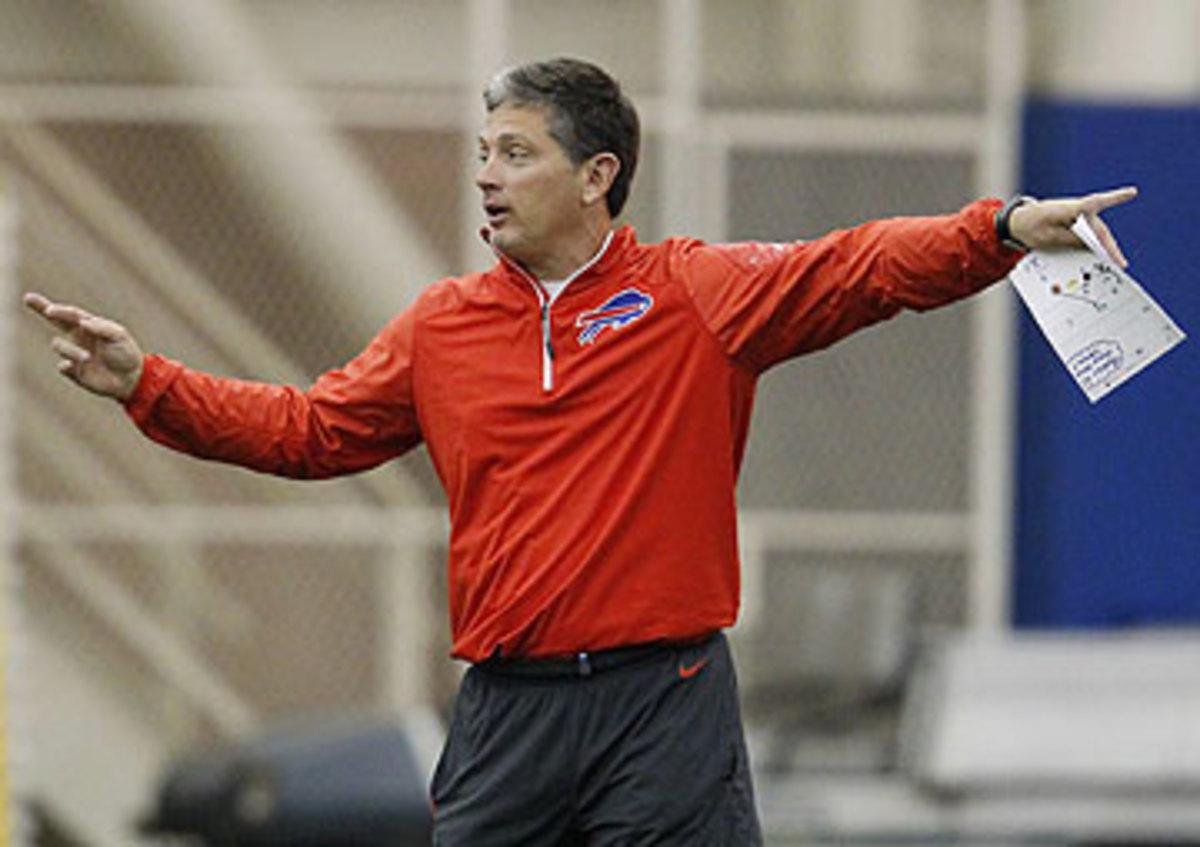 Jim Schwartz is coordinating the Bills defense, after spending the past five seasons as Lions head coach. (Bill Wippert/AP)