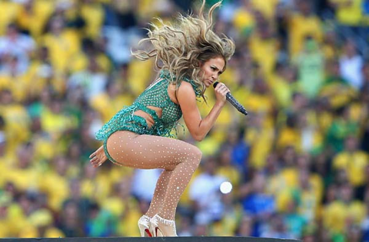 Jennifer Lopez performs at opening ceremonies of 2014 World Cup in Brazil.