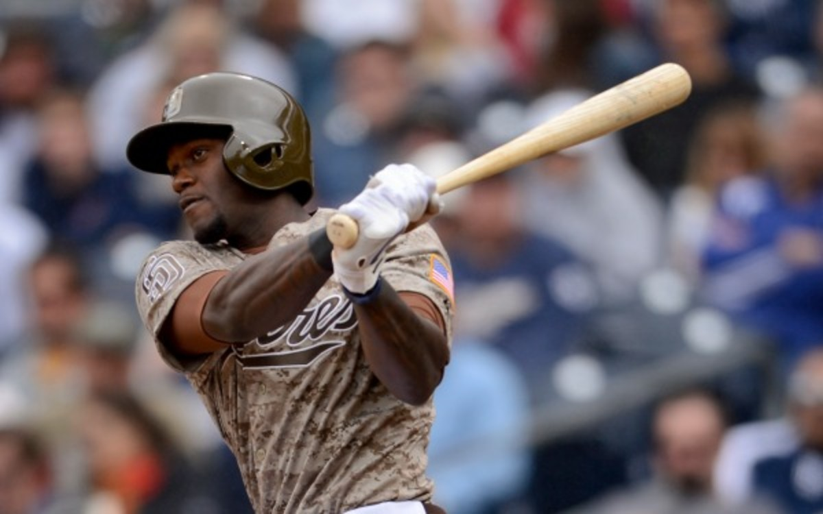 Padres outfielder Cameron Maybin is a .248 career hitter in seven MLB seasons. (Andy Hayt/Getty Images)