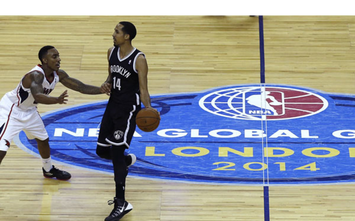 The Nets blew out the Hawks in last year's game played at London's 02 Arena.  (AP Photo/Kirsty Wigglesworth)
