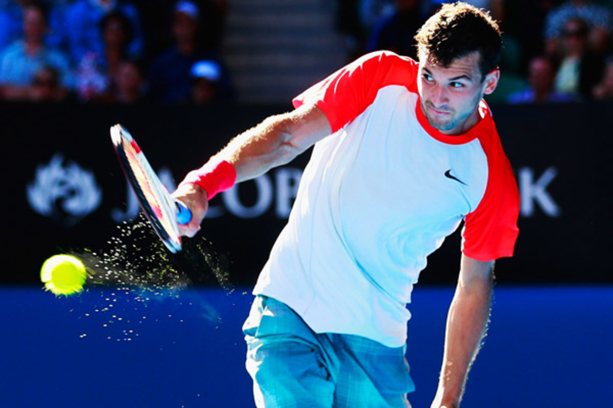 Grigor Dimitrov had his first deep run at a Grand Slam tournament. (Scott Barbour/Getty Images)