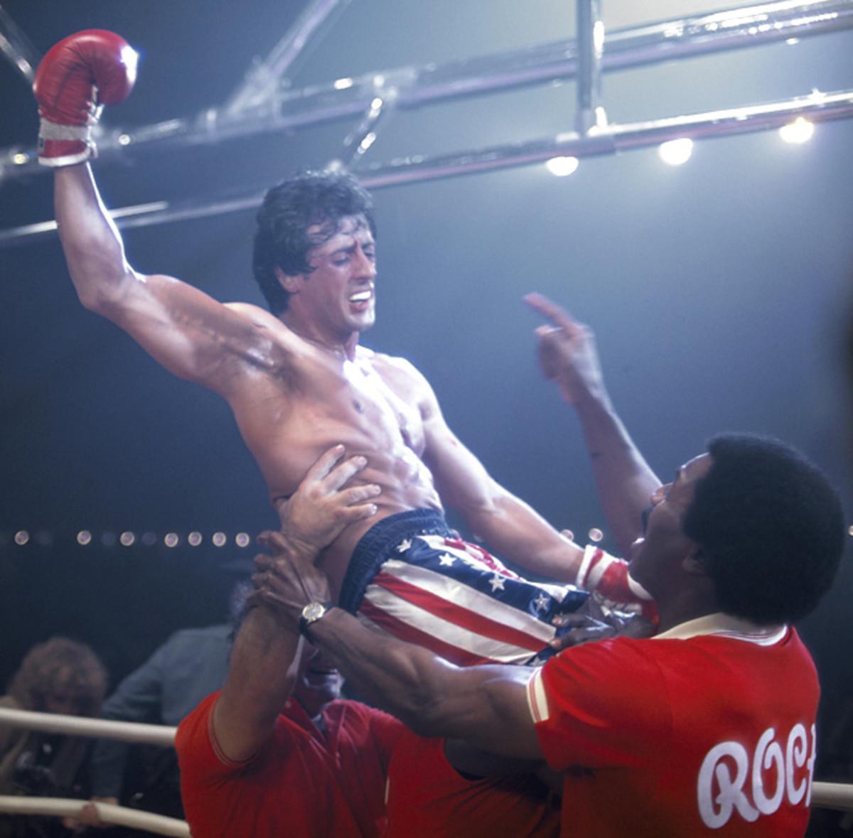 Rocky Balboa, Paulie Pennino and Apollo Creed