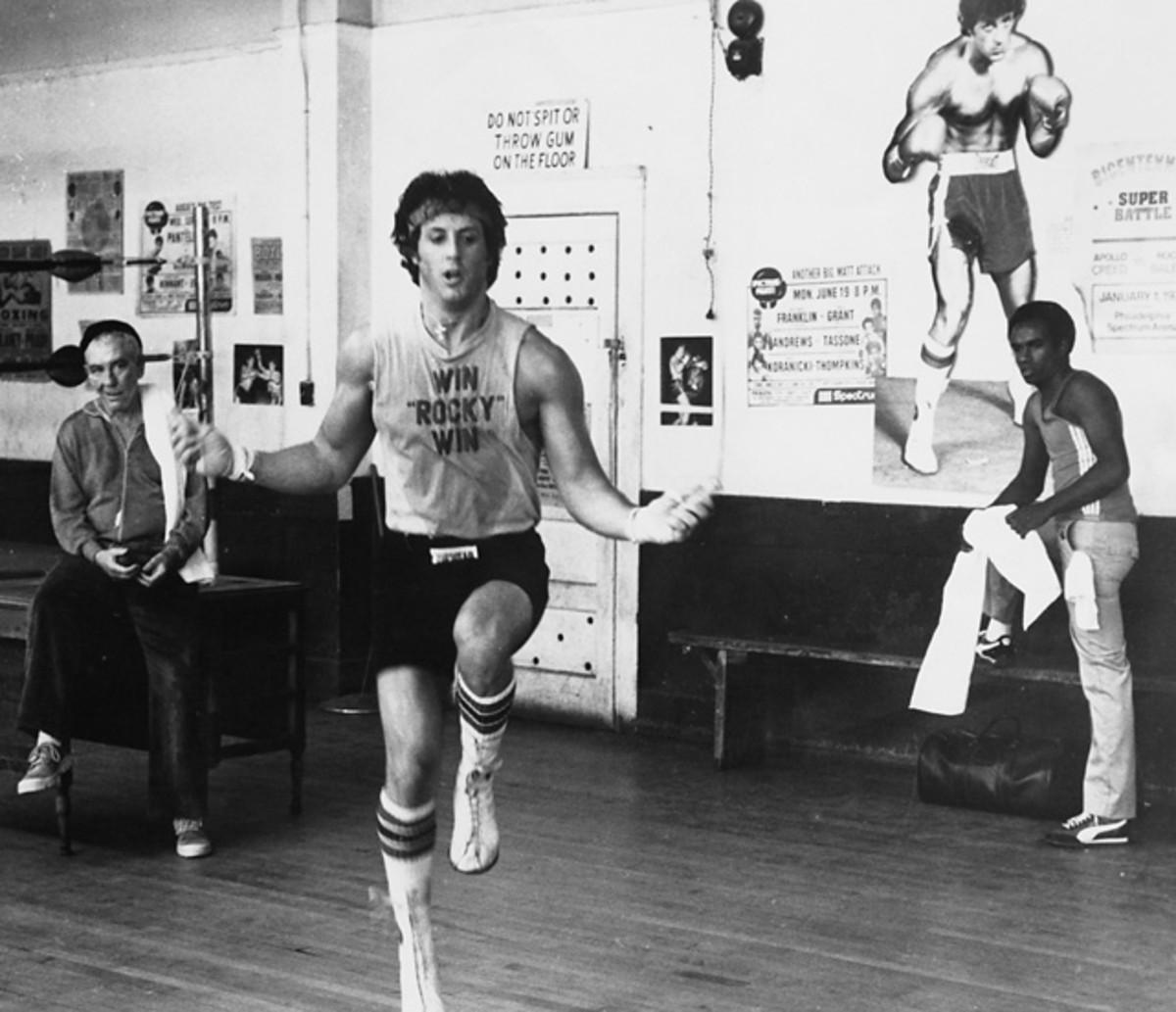 Rocky Balboa and Mickey Goldmill