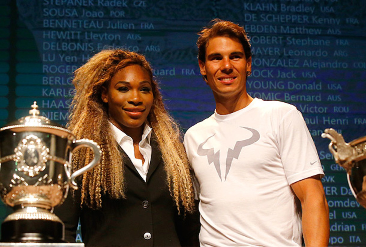Defending champions Serena Williams and Rafael Nadal both face tricky draws at the French Open. (Michel Euler/AP)