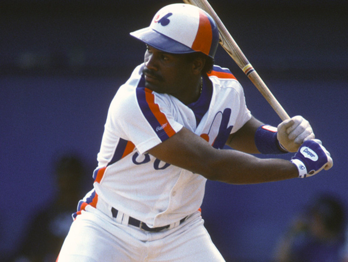 One of the 1980s best players, Tim Raines was a rock for the Expos in the outfield. (Getty Images)