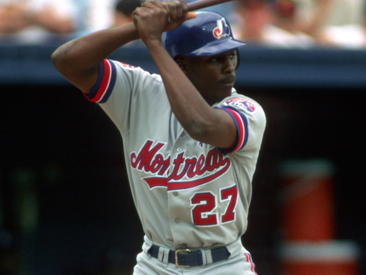Vladimir Guerrero goes down as one of the top outfielders in Expos franchise history. (George Gojkovich/Getty Images)
