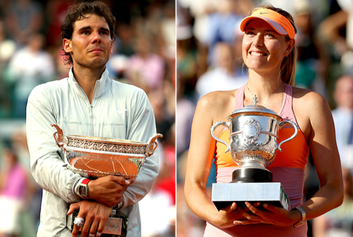 Rafael Nadal claimed his ninth French Open title, while Maria Sharapova won her second.