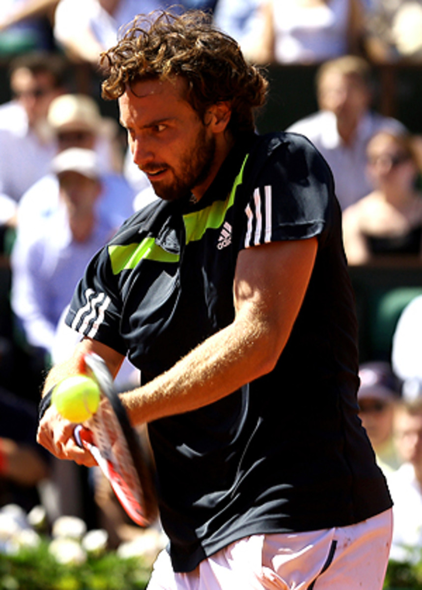 Ernests Gulbis reached the semifinals of a Grand Slam for the first time at Roland Garros.