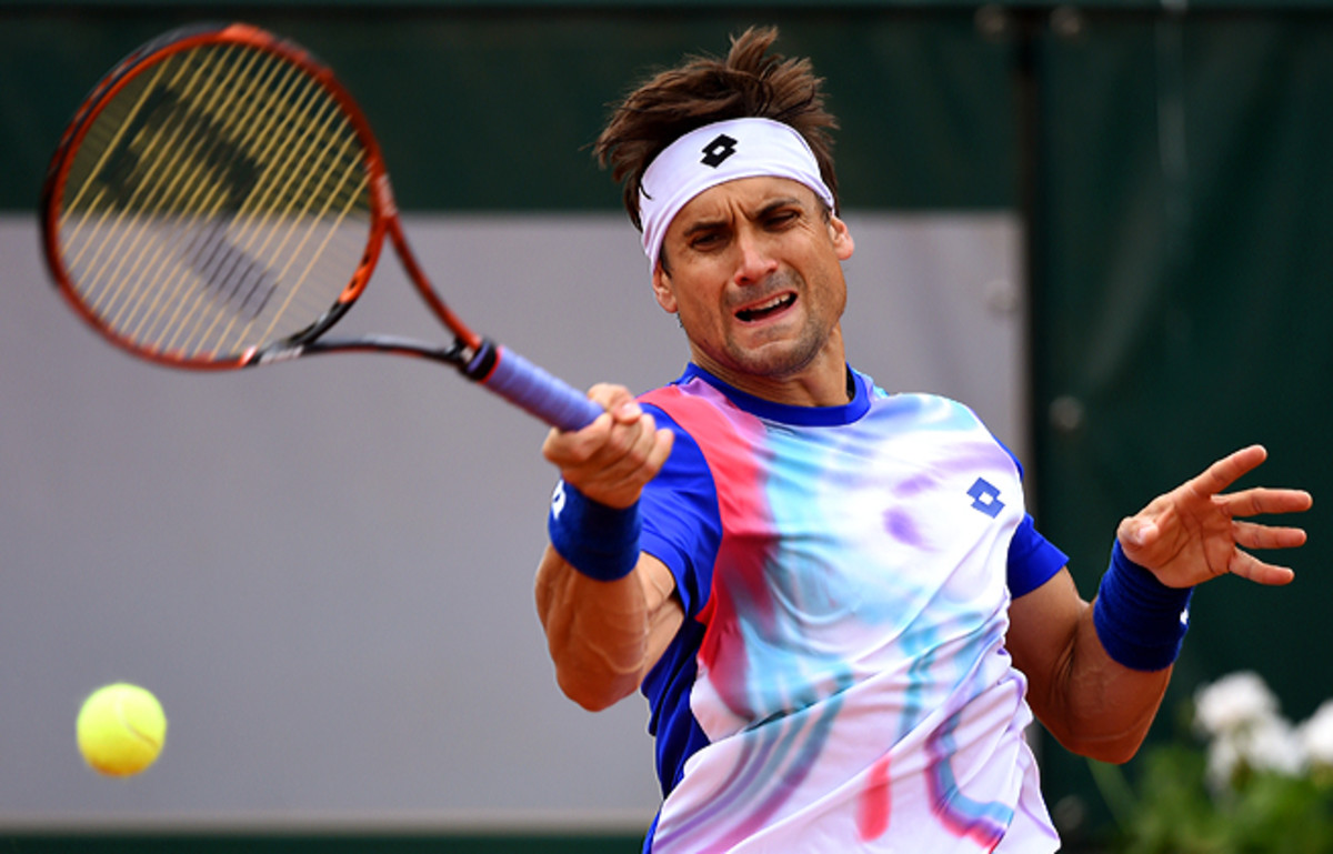 David Ferrer, 2013 French Open finalist, lost in four sets to Rafael Nadal in the quarterfinals.