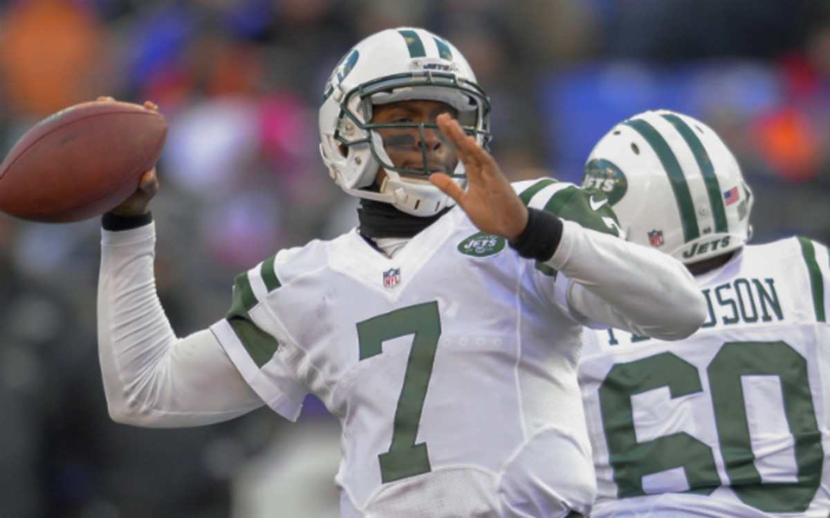 Geno Smith's worst two games of the season have come at an inopportune time for the Jets. (McClatchy-Tribune via Getty Images)