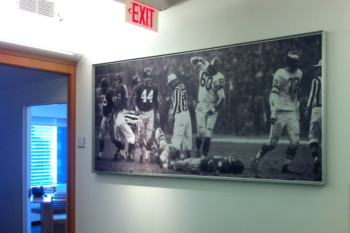 The photo, with pride of place in the halls of the Sports Illustrated offices. (Mark Mravic/The MMQB)