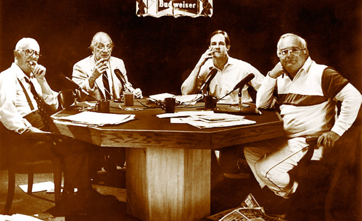 Panelists (l-r) Gleason, Bentley, Telander and Jauss were always well-informed, if not well-groomed.