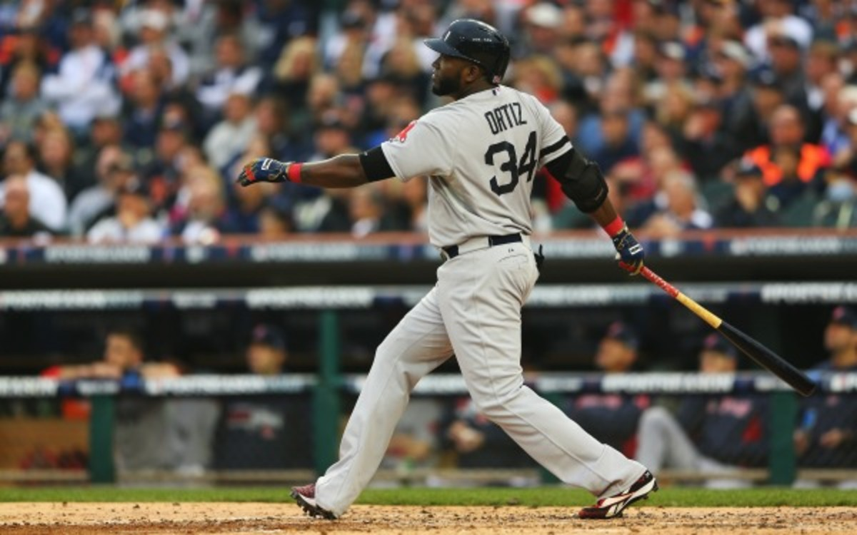 Red Sox DH David Ortiz will get his shot in the field at first base during the World Series. (Mike Ehrmann/Getty Images)