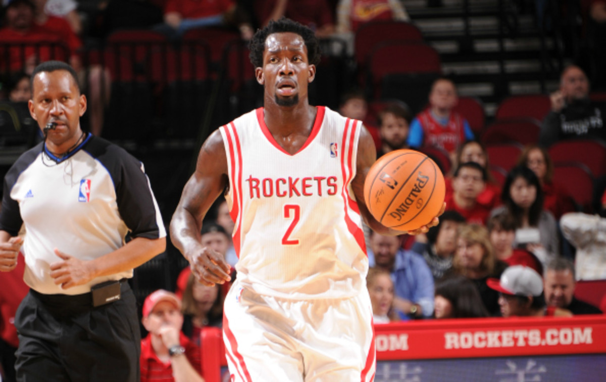 Patrick Beverley has averaged 1.4 steal per game for the Rockets this season. (Bill Baptist/National Basketball/Getty Images)