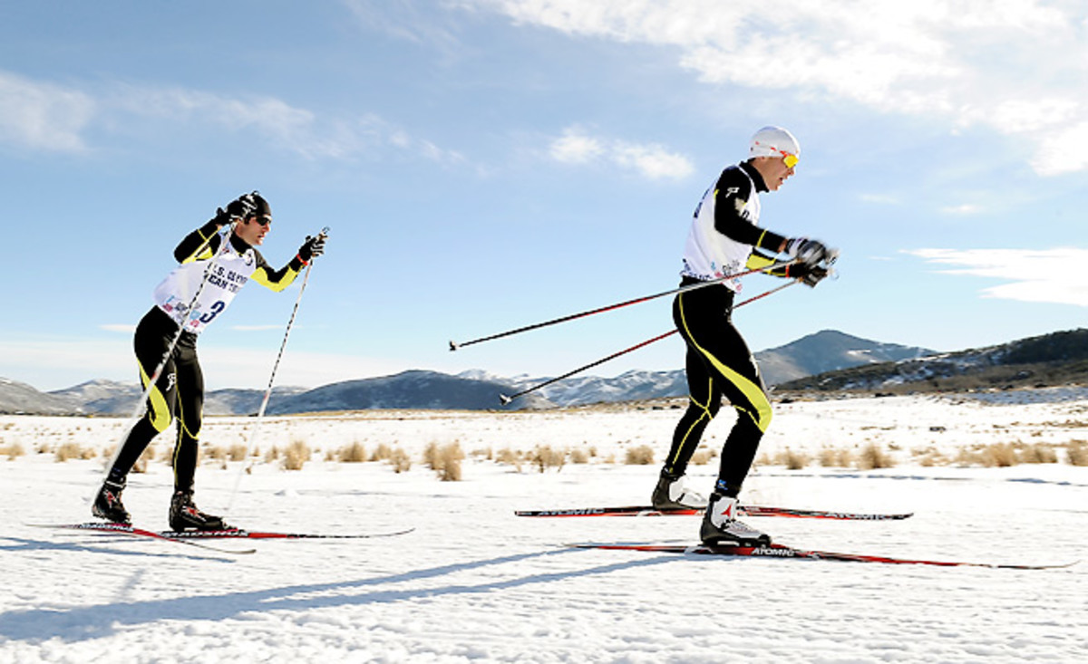 Bryan Fletcher (left) and Bill Demong will be critical to the U.S.'s team medal hopes in Nordic Combined.