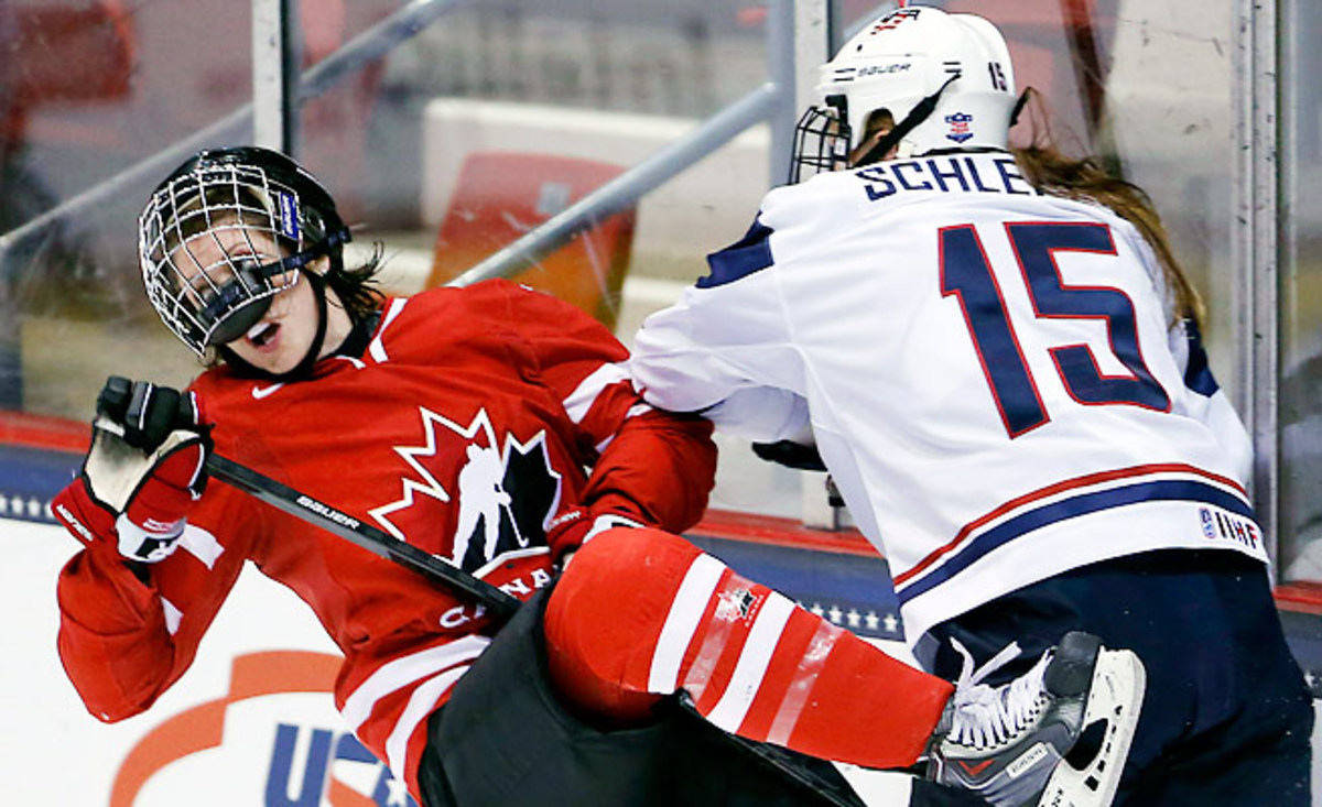 The consistent battle for gold medals has turned USA-Canada into a heated women's hockey rivalry.