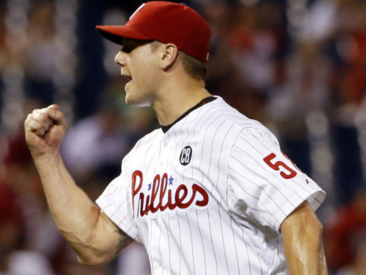 Jonathan Papelbon became the 27th pitcher all time to collect 300 career saves. (Matt Slocum/AP)