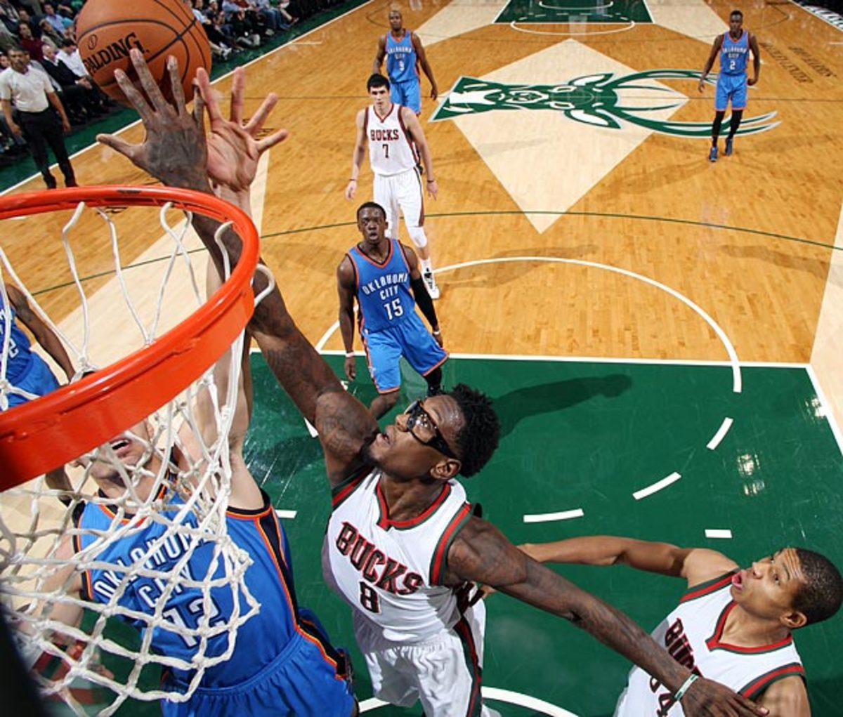 Sanders' ability to protect the rim is a key factor in Milwaukee's defensive improvement.