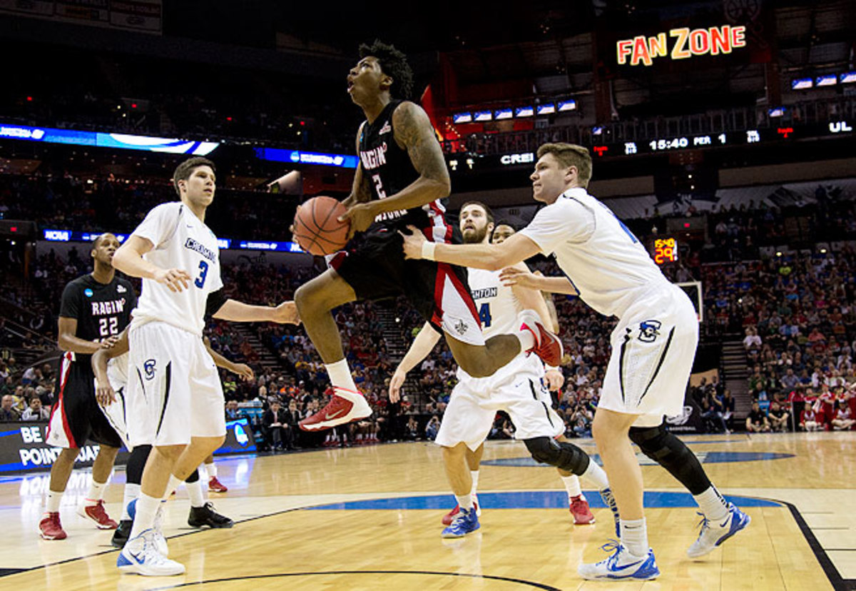 Against Doug McDermott (left) and Creighton, Payton (2) poured in 24 points in Louisiana-Lafayette's 76-66 loss in the NCAA tournament.
