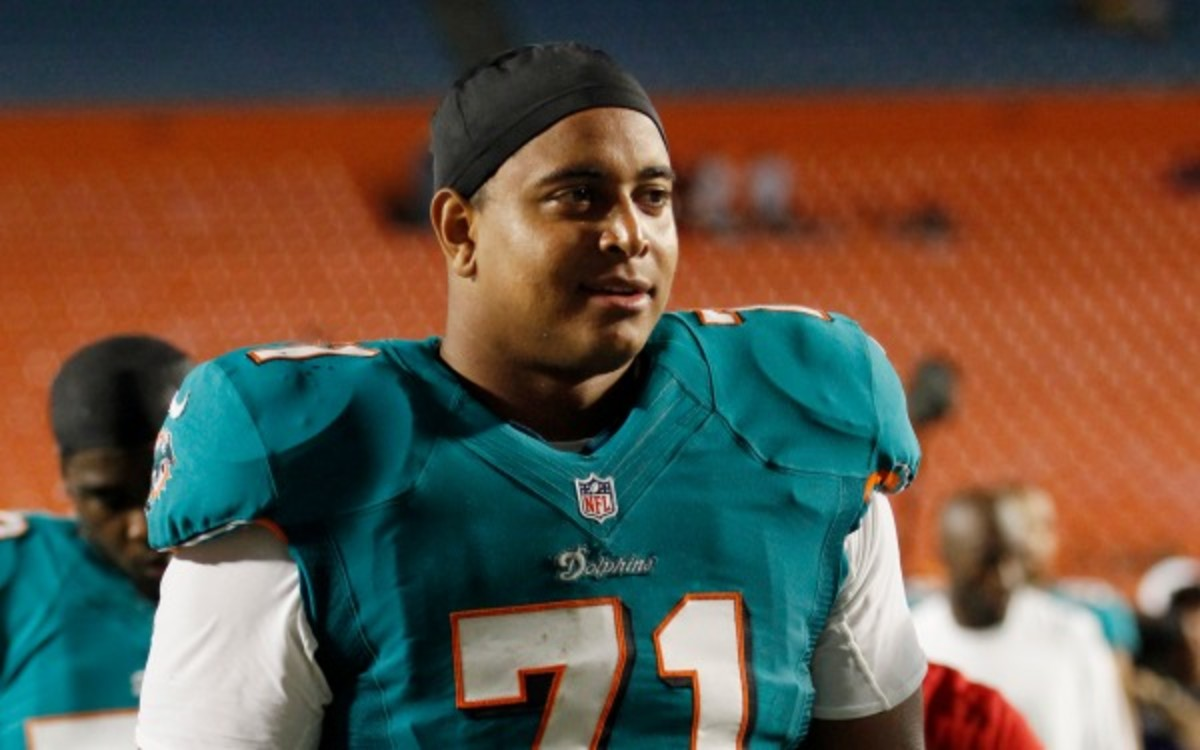 Jonathan Martin had started seven games for the team this season. (AP Photo/Alan Diaz)