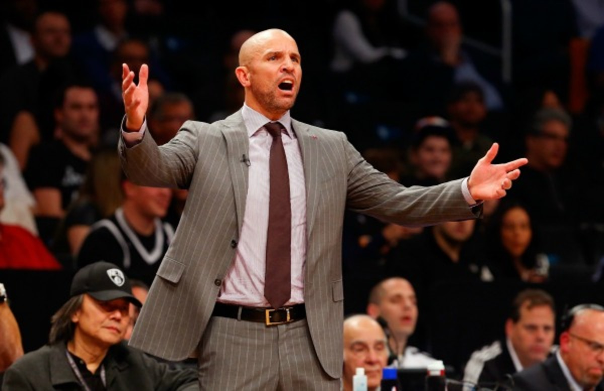 Jason Kidd blasted Nets players after a lopsided loss to the Pacers. (Jim McIsaac/Getty Images)