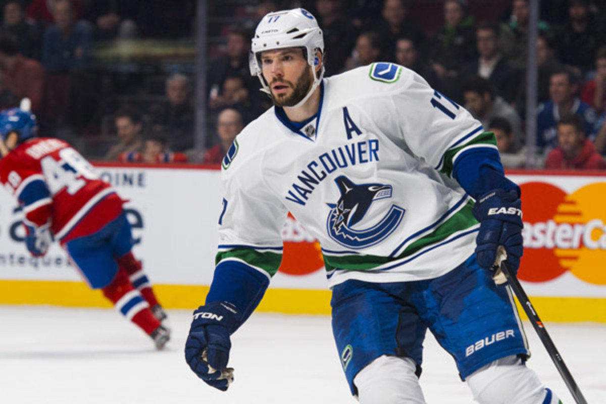 Ryan Kesler has scored 177 goals and 388 points in his 10-year NHL career, all with the Canucks.(Minas Panagiotakis/Icon SMI)