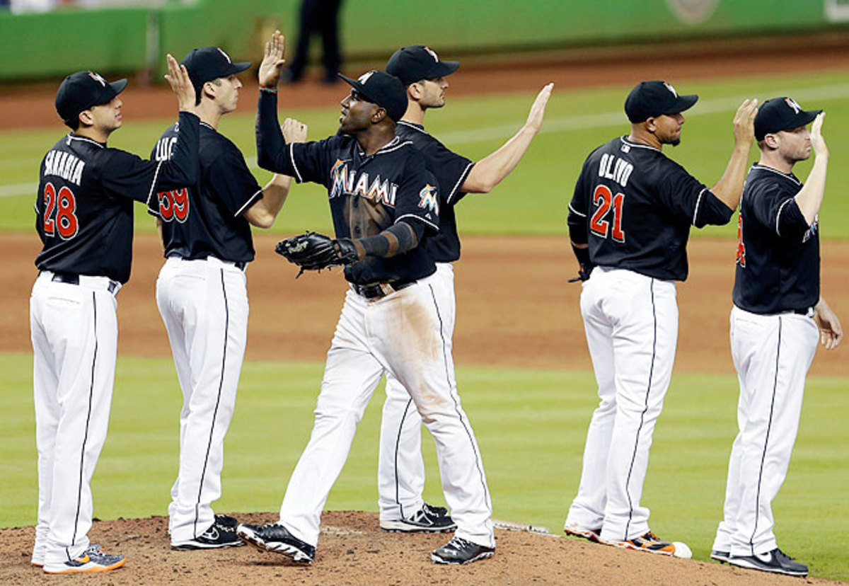 Marlins home games lasted two hours and 56 minutes on average in 2013, second-fastest in baseball.