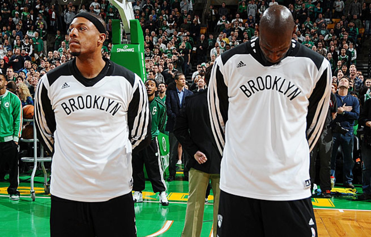 Paul Pierce and Kevin Garnett both became emotional during their return to Boston with the Nets.