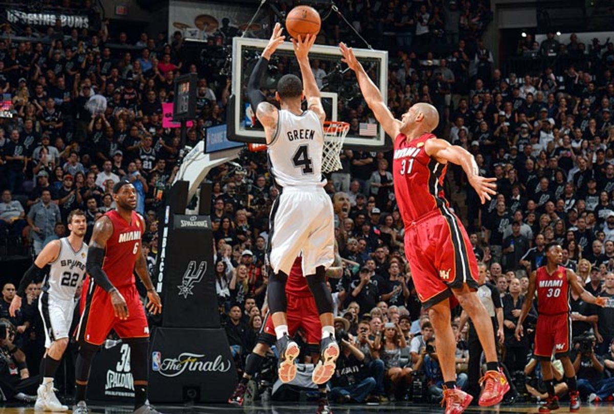 San Antonio's Danny Green is better in catch-and-shoot situations than having to create off the dribble.