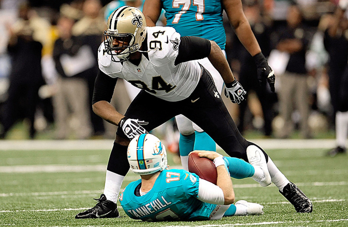 Cameron Jordan, who had a career-high 12.5 sacks last season, benefitted greatly from Rob Ryan's system. (Stacy Revere/Getty Images)