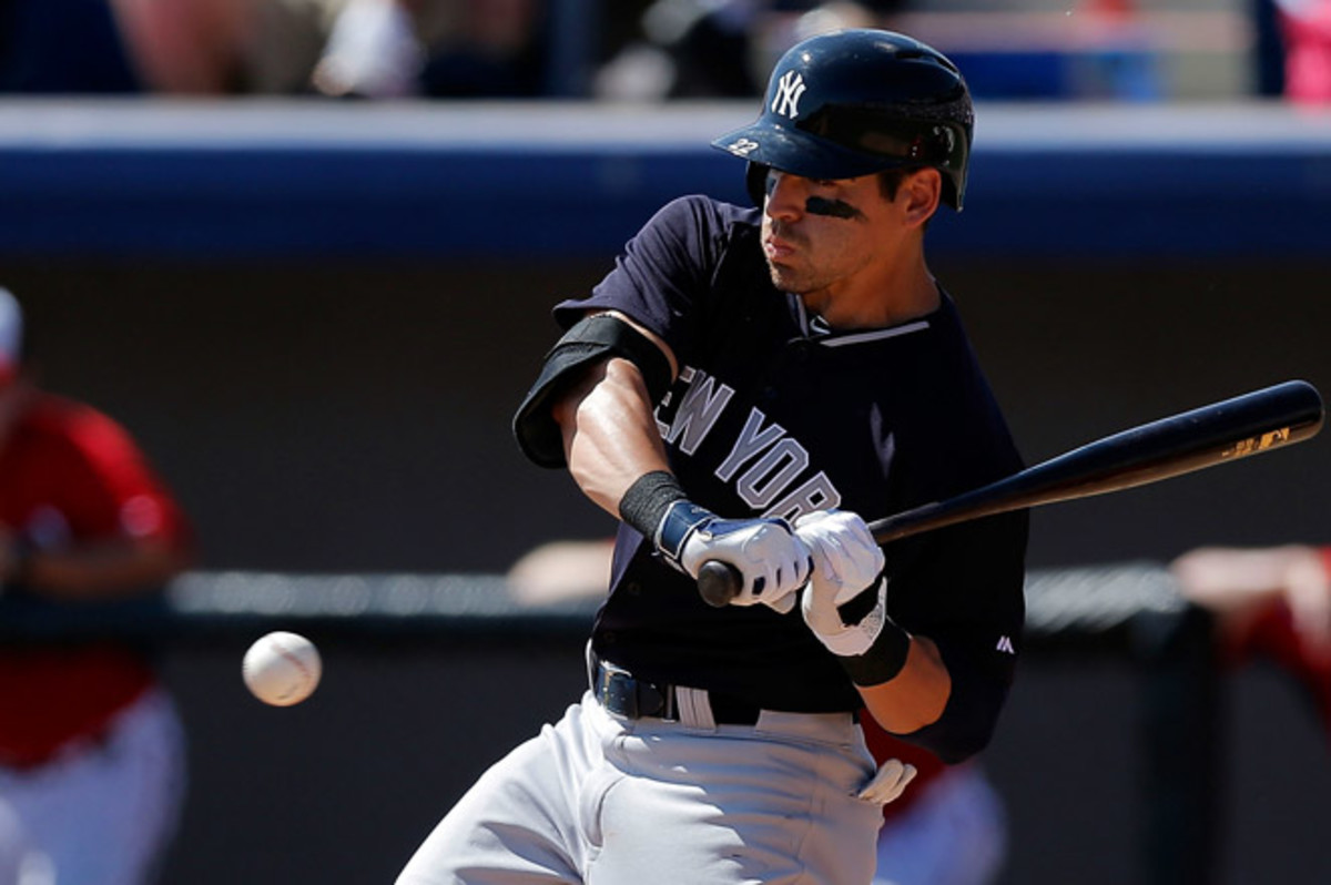Jacoby Ellsbury hasn't played since March 14 and was scratched from Sunday's game against Atlanta because of right calf tightness.