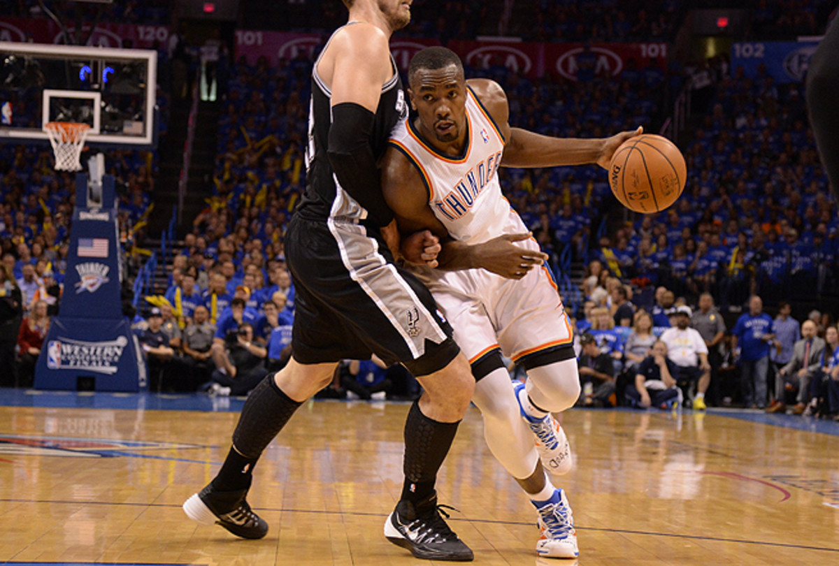 Serge Ibaka's mere presence on the court altered San Antonio's gameplan on both ends.