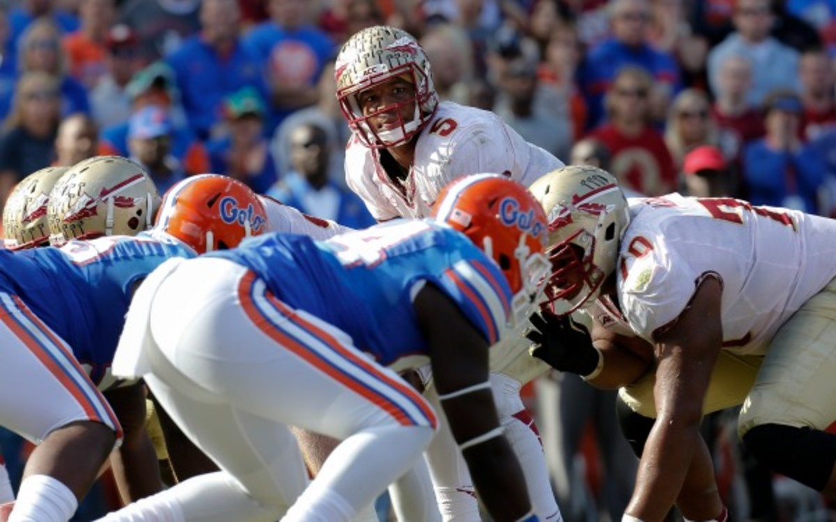 Florida State's Jameis Winston threw for 327 yards against the Gators last season. (Don Juan Moore/Getty Images)