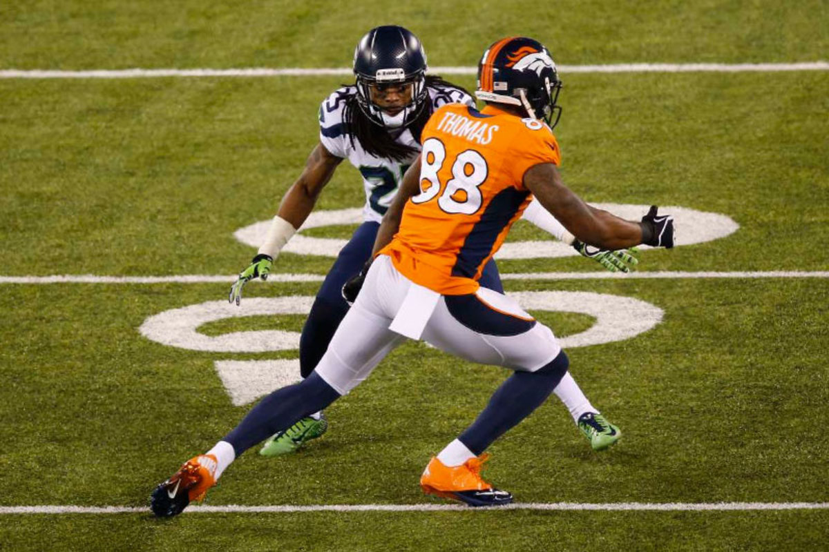 If Denver was to beat Seattle, it would have to win the one-on-one battles across the field. Sherman and company made sure that didn't happen. (Walter Iooss Jr./Sports Illustrated/The MMQB)