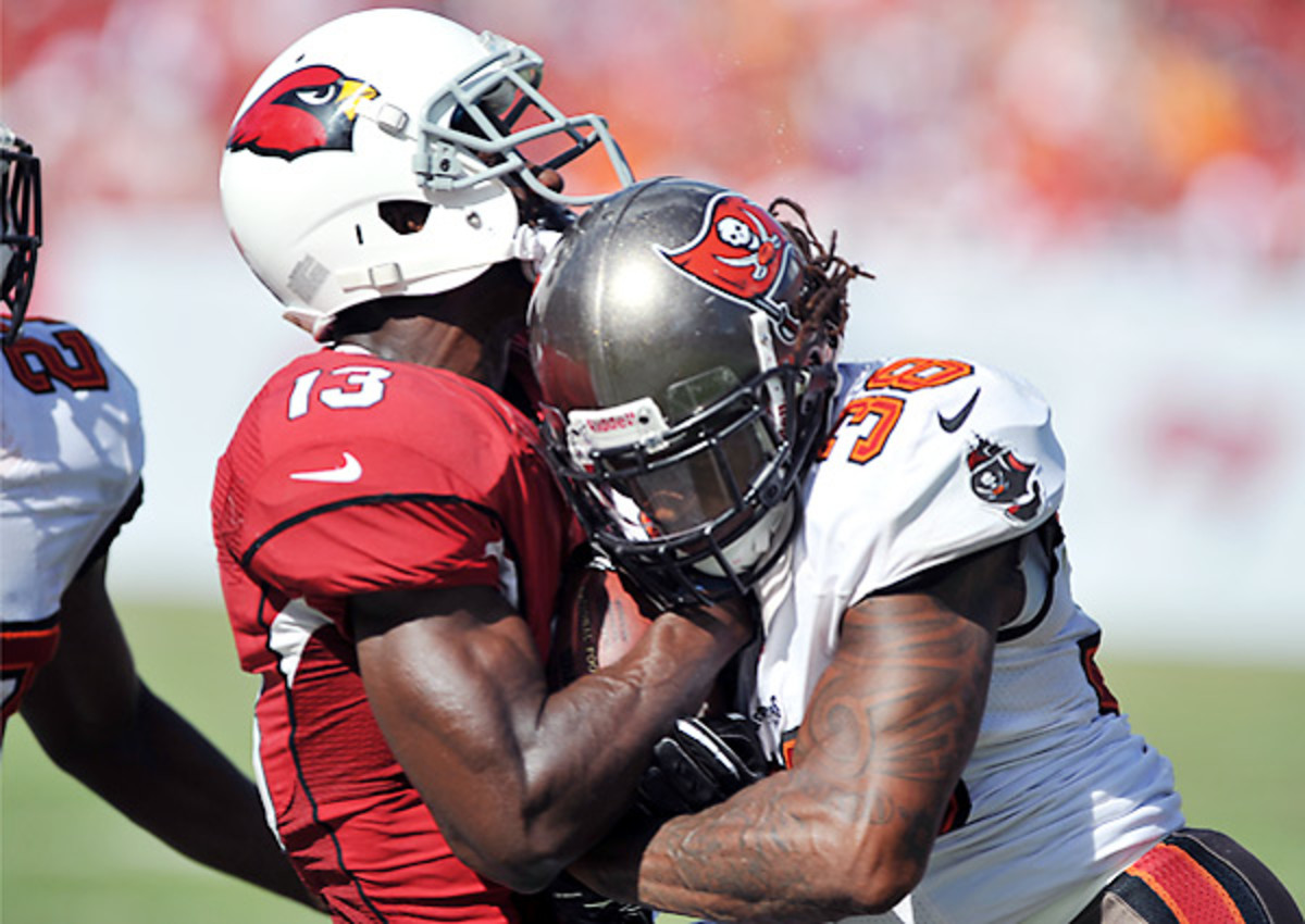 Crunching hits proved costly for Dashon Goldson last season.