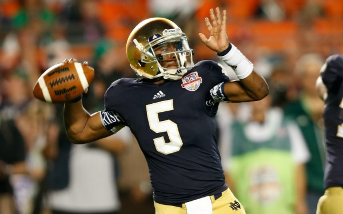 Everett Golson said he plans on returning to Notre Dame in the spring. (Joel Auerbach/Getty Images)