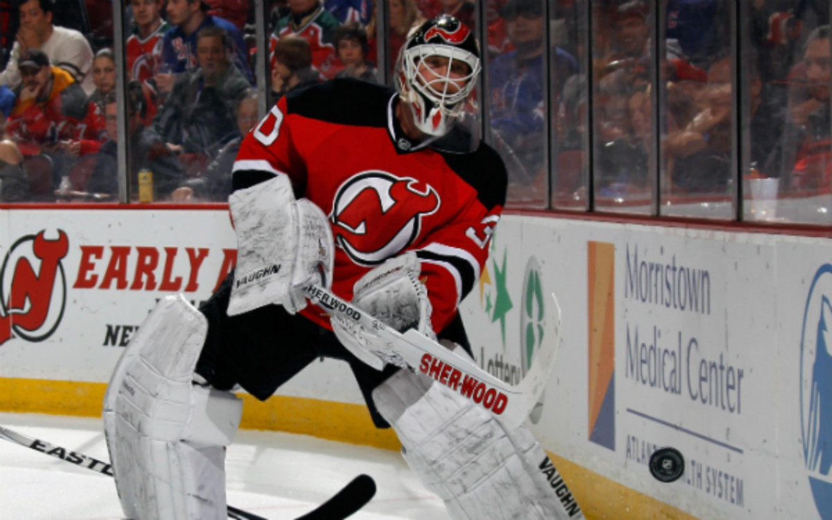 If Sunday was his final game as a Devil, Martin Brodeur was sent off in proper fashion. (Bruce Bennett/Getty Images)