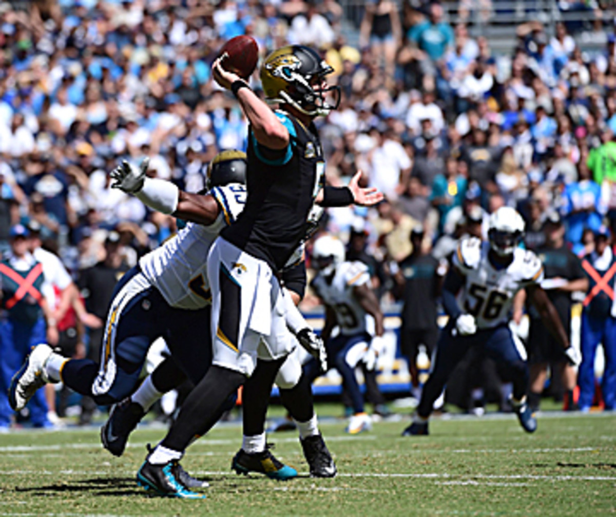 Mechanics, specifically his footwork, remain an issue for Bortles. (John W. McDonough/The MMQB)