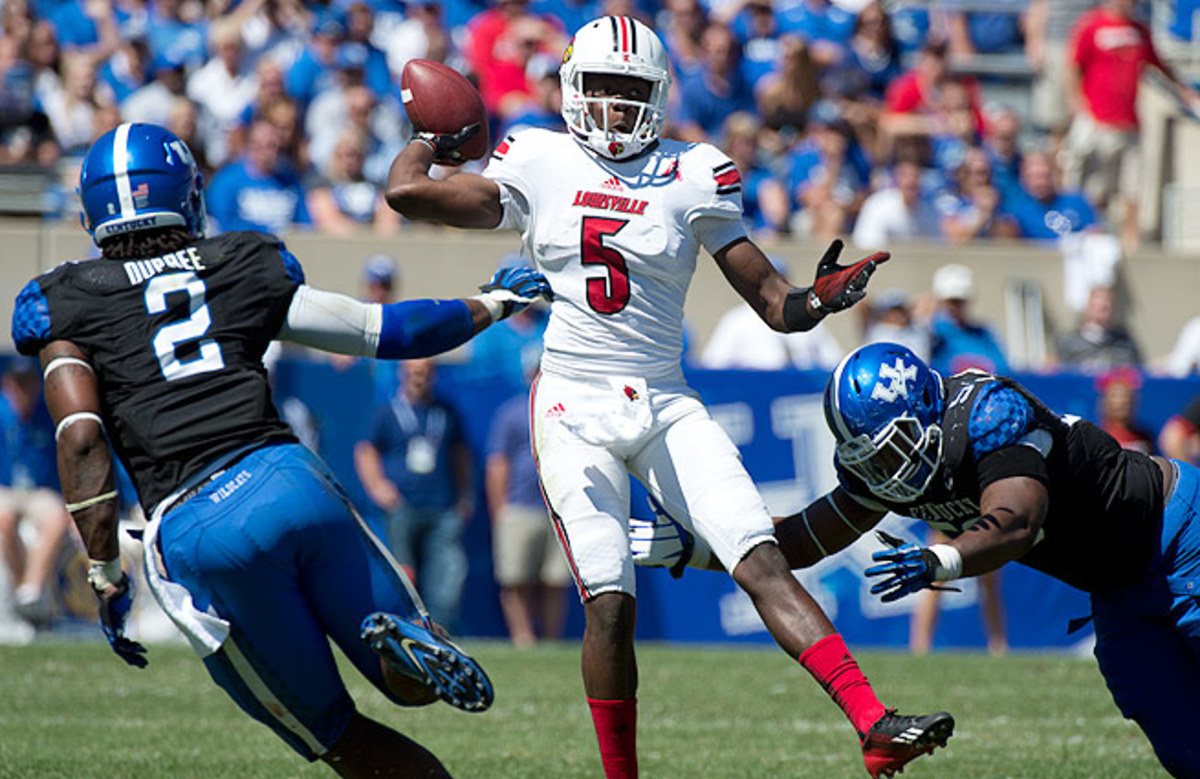 Does Teddy Bridgewater (top) offer the same potential as Andrew Luck or RGIII? Scouts aren't sold.